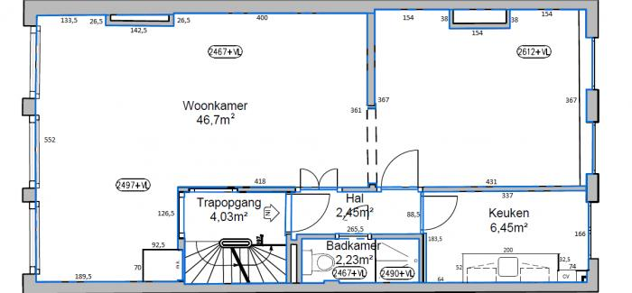 afmetingen 2e kamer afmetingenen woonkamer slaapkamer 1