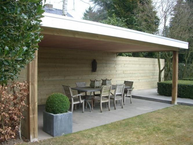 Aannemer aanbouw gezocht breda houten veranda modern lichtkoepel - Veranda modern huis ...